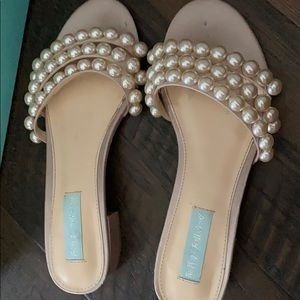 Blue by Betsey Johnson Nude Sandals